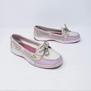 Sperry Angelfish Rose Open Mesh Leather Boat Shoe